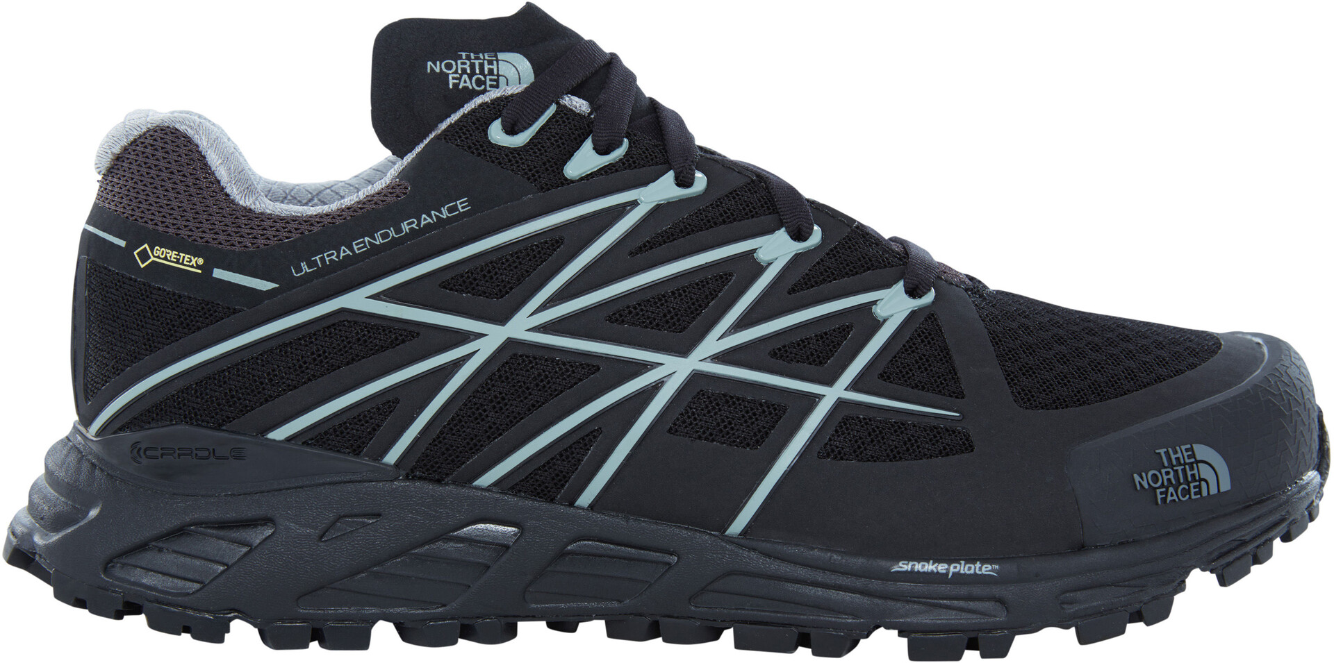 The North Face Ultra Endurance GTX Running Trail Shoes Dame tnf blackmonument grey